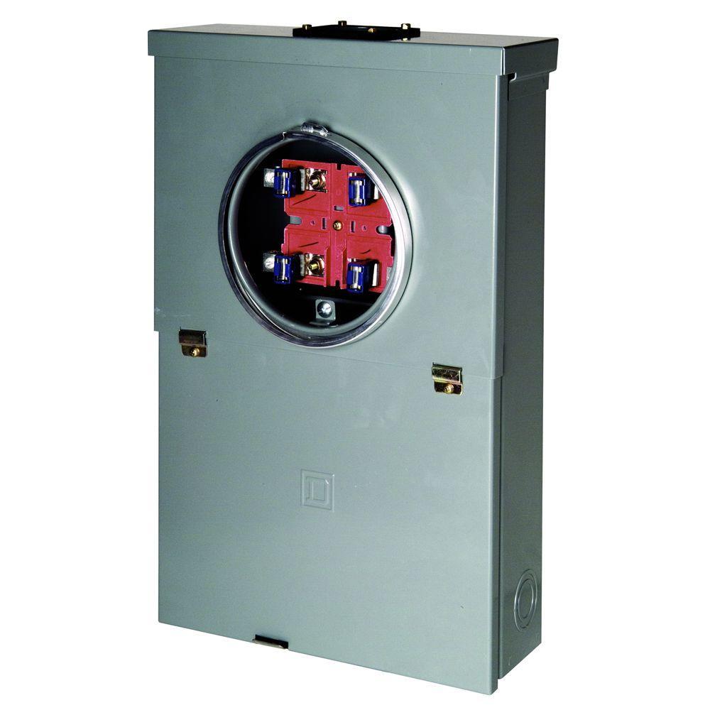 homeline 100 amp 10-space 20-circuit outdoor ring-type overhead main breaker
