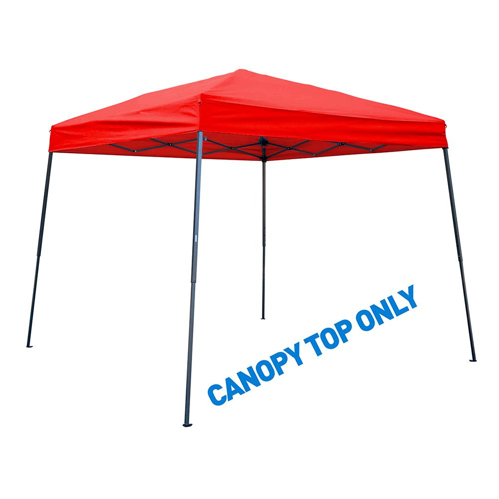 Trademark Innovations 8 Ft X Red Square Replacement Canopy Gazebo Top For 10 Slant Leg