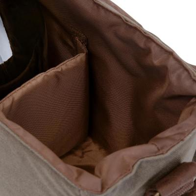 Khaki Green and Brown Insulated Double Growler Tote