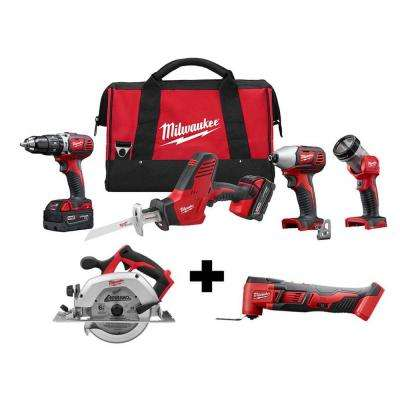 M18 18-Volt Lithium-Ion Cordless Combo Tool Kit (4-Tool) W/  M18 6-1/2 in. Circular Saw & Multi-Tool