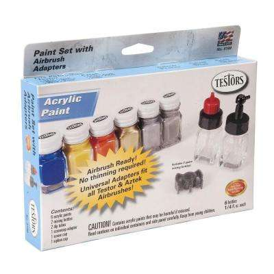 0.25 oz. 6-Color Airbrush Acrylic Paint Set (6-Pack)