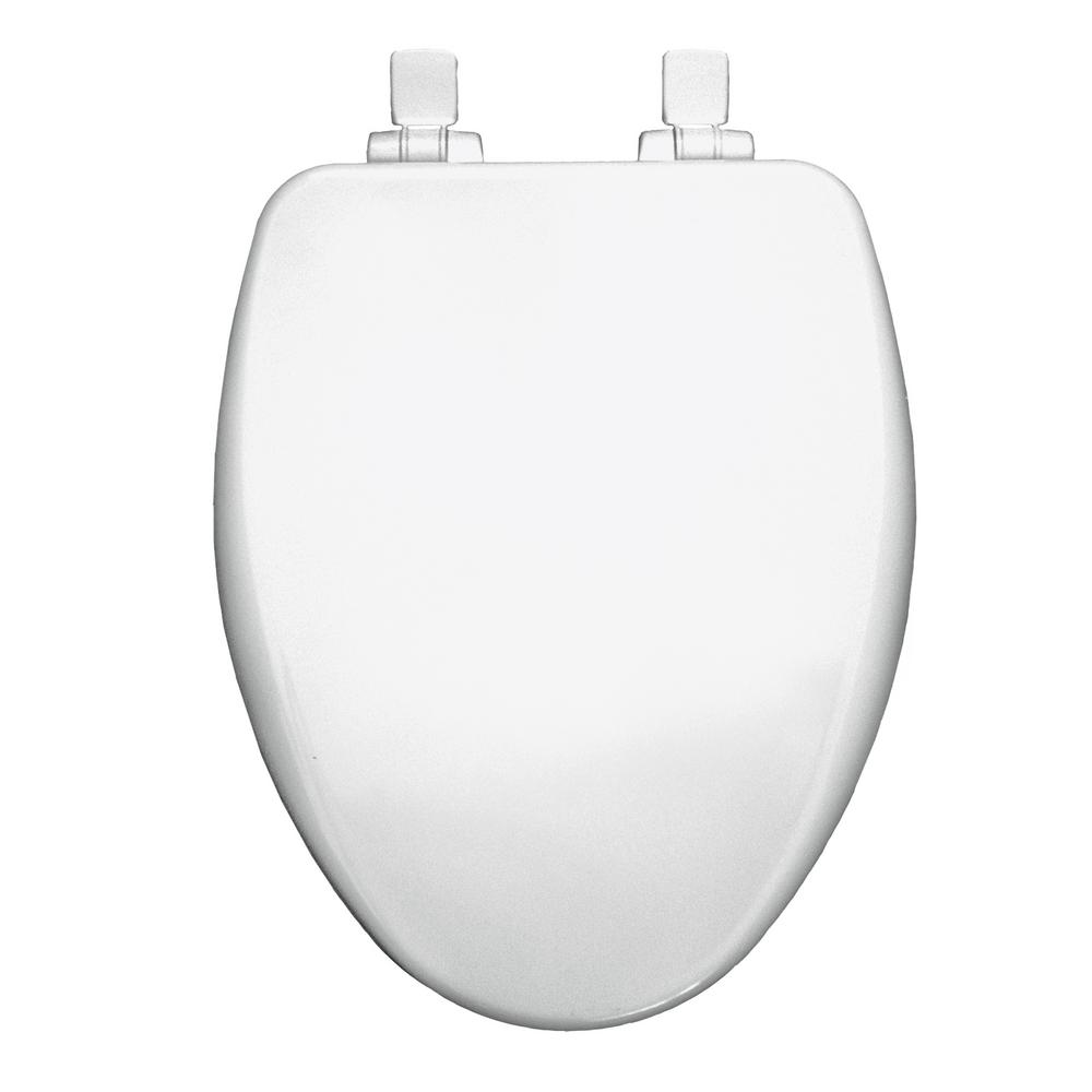 Stupendous Bemis Elongated Closed Front Toilet Seat In White Machost Co Dining Chair Design Ideas Machostcouk