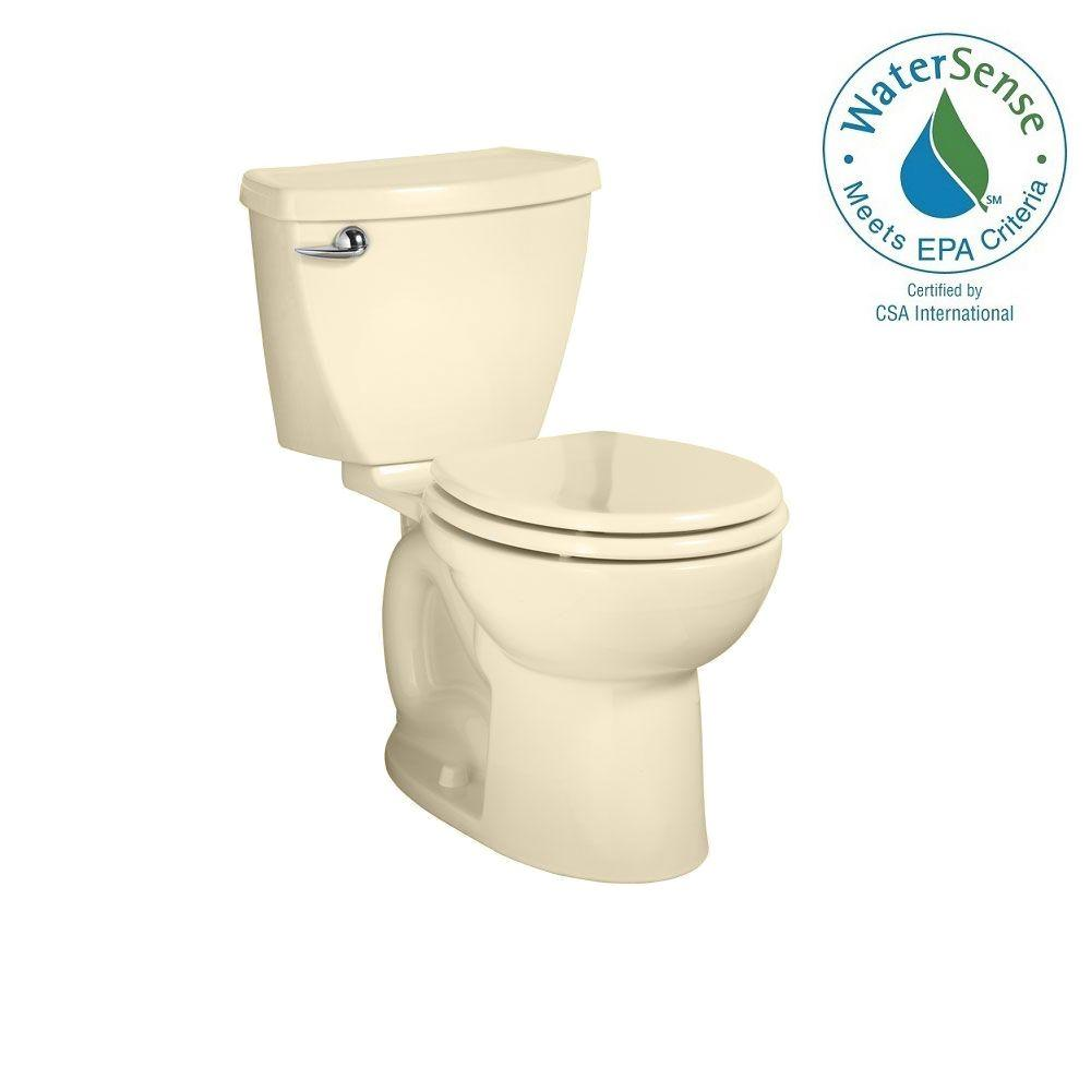 American Standard Cadet 3 Powerwash 10 in. Rough-In 2-piece 1.28 GPF Single Flush Round Toilet in Bone