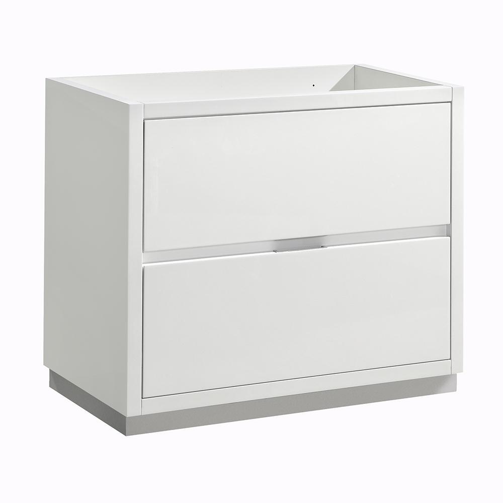 Valencia 36 in. W Bathroom Vanity Cabinet in Glossy White