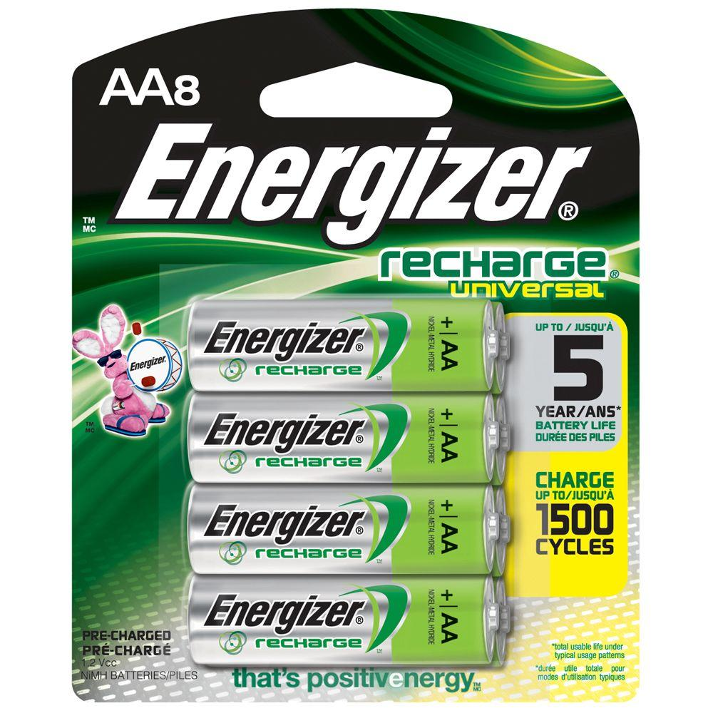 Energizer AA8 1.2-Volt Rechargeable Universal Battery
