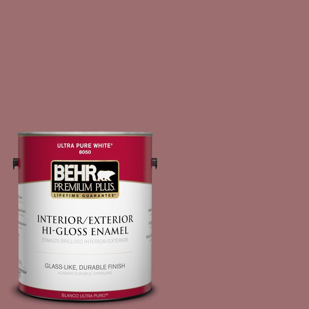 BEHR Premium Plus 1-gal. #150F-5 Mulled Wine Hi-Gloss Enamel Interior/Exterior Paint