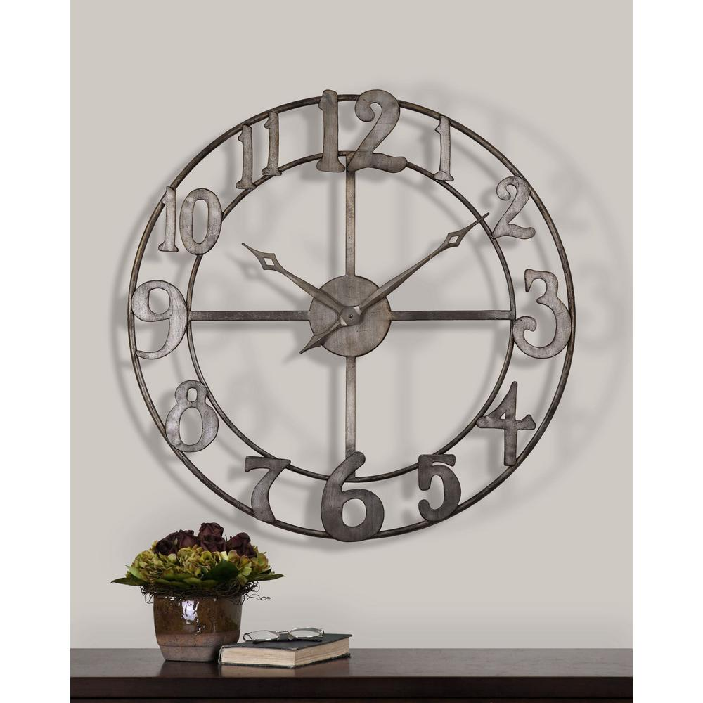 Global Direct 32-1/4 in. Open Numerals Round Wall Clock