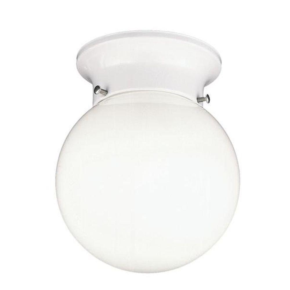 Thomas Lighting 1-Light Matte White Ceiling Flushmount