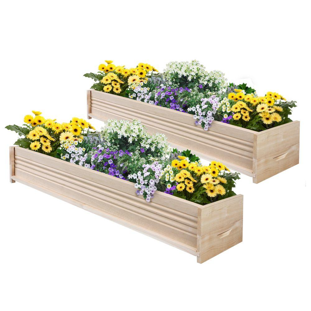 48 in. L Cedar Planter Box (2-Pack)