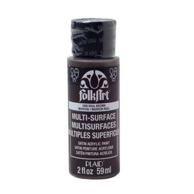 2 oz. Real Brown Multi Surface Paint