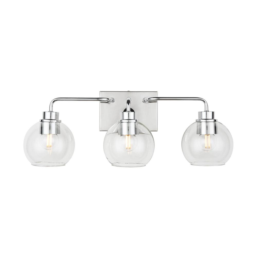 Home Decorators Collection 3-Light Polished Chrome Vanity Light