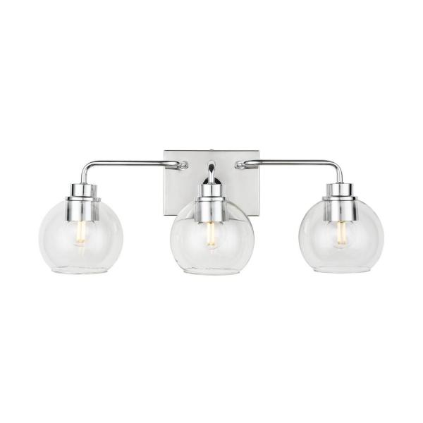 Home Decorators Collection Lawrence 3 Light Polished Chrome Vanity Light Hd 1681ch The Home Depot