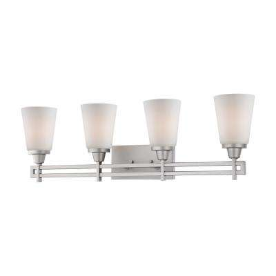 Wright 4-Light Matte Nickel Bath Fixture