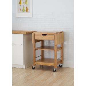 Trinity 24 in. Bamboo Kitchen Cart with Drop Leaf TBFLNA ...
