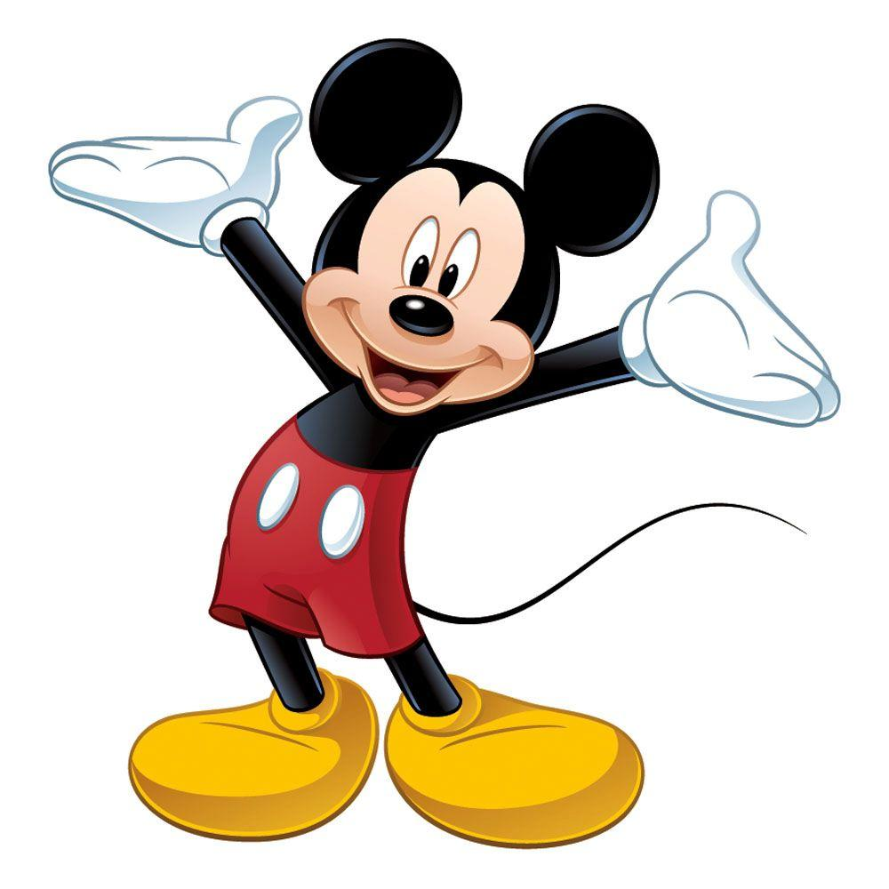 RoomMates 5 in. x 19 in. Mickey and Friends Mickey Mouse Peel and Stick Giant Wall Decal (9-Piece)