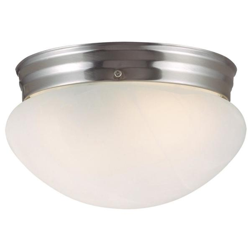 Millbridge 1-Light Satin Nickel Ceiling Semi Flush Mount Light