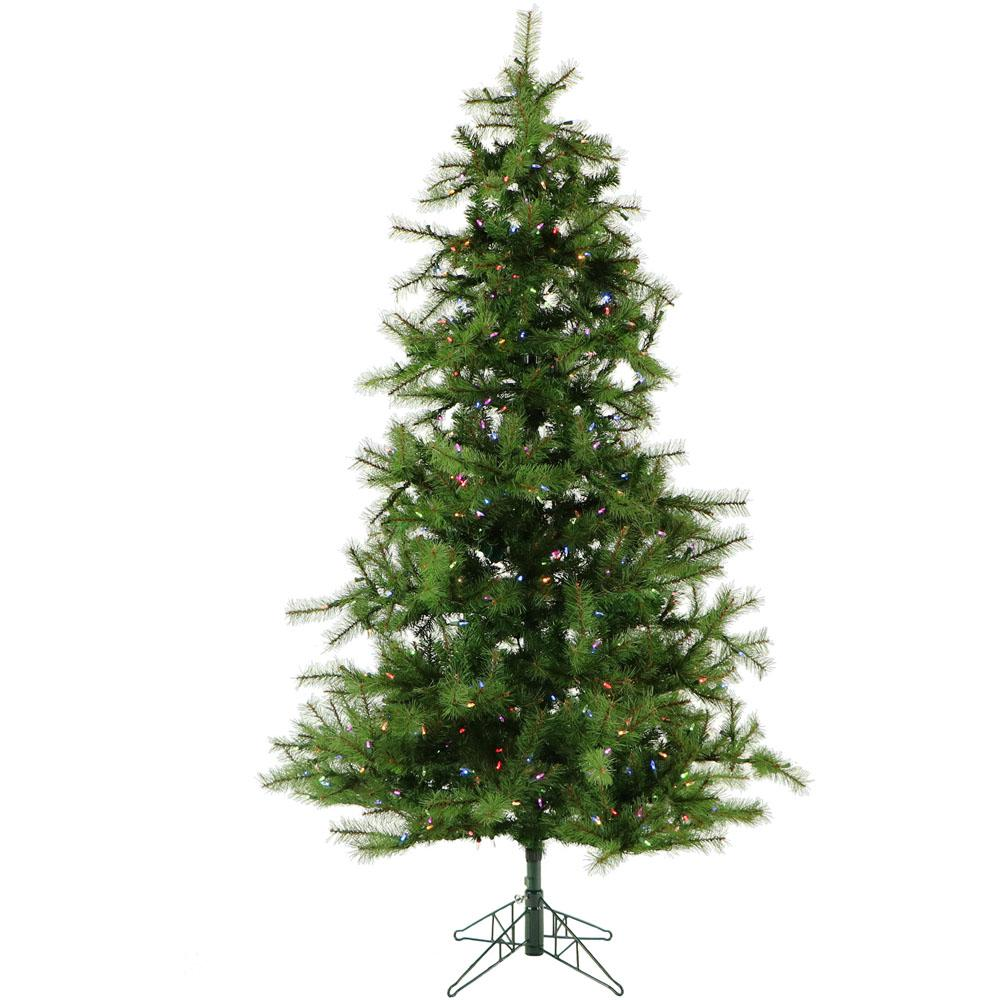 7 ft. Pre-lit LED Southern Peace Pine Artificial Christmas Tree with