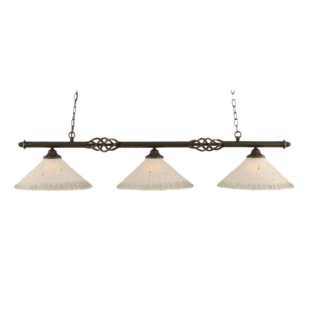 Filament Design Concord 3-Light Dark Granite Island Pendant