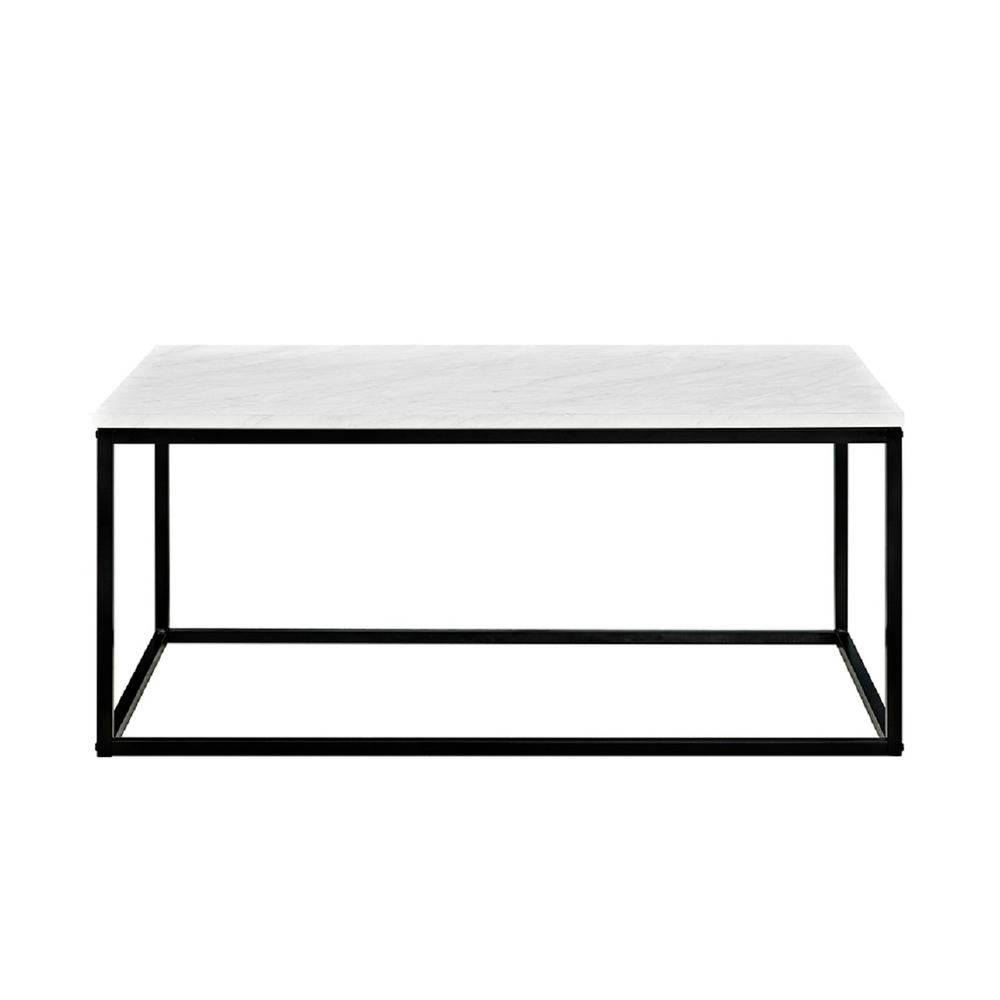 Walker Edison Furniture Company Jordan Marble Finish 42 In. Coffee Table