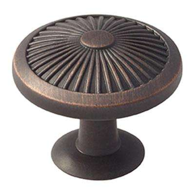 Crawford 1-3/8 in. (35 mm) Oil-Rubbed Bronze Cabinet Knob