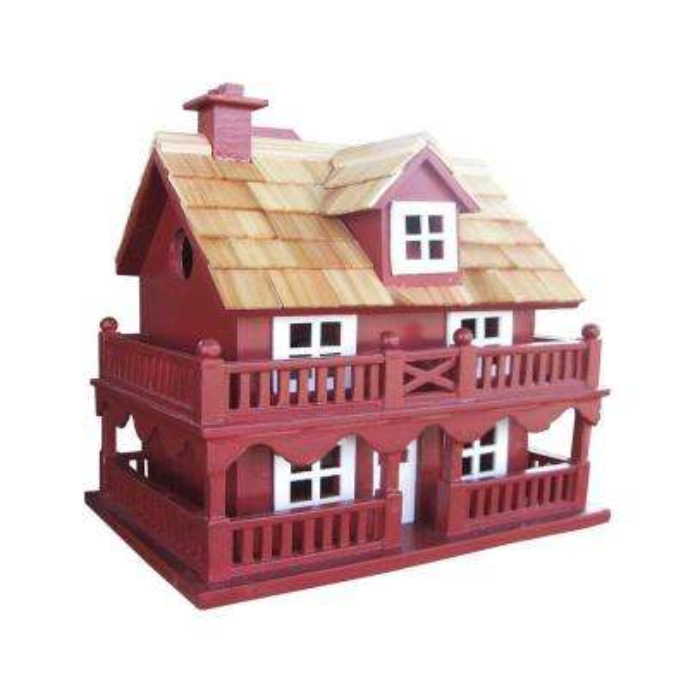 Novelty Cottage Birdhouse (Red)