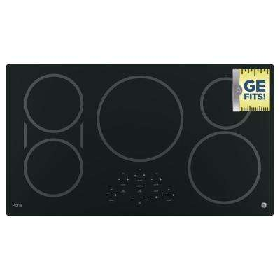 36 in. Electric Induction Cooktop in Black with 5 Elements