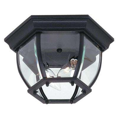 Sergej 2-Light Black Outdoor Flush Mount