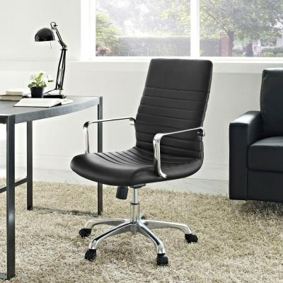 Finesse Mid Back Memory Foam Office Chair in Black