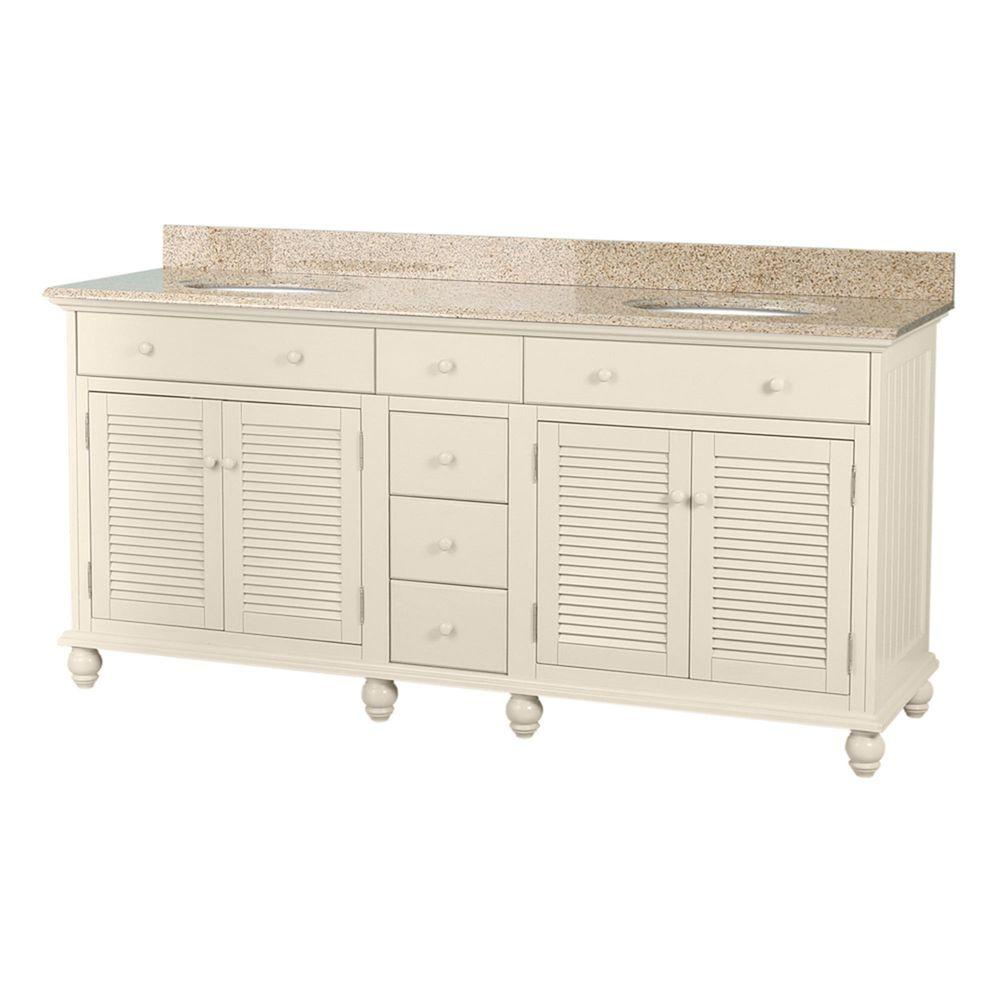 Home Decorators Collection Cottage 72 In. W X 22 In. D Double Bath Vanity