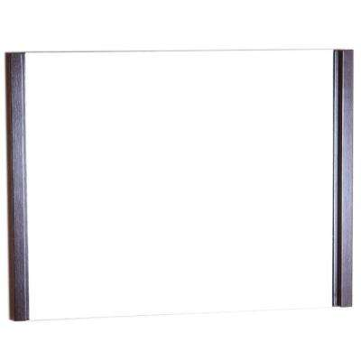 Fontana 36 in. W x 1.8 in. D x 26 in. H Single Framed Wall Mirror in Wenge