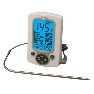 Click here to buy Taylor Commercial White LCD Food Thermometer with Timer by Taylor.
