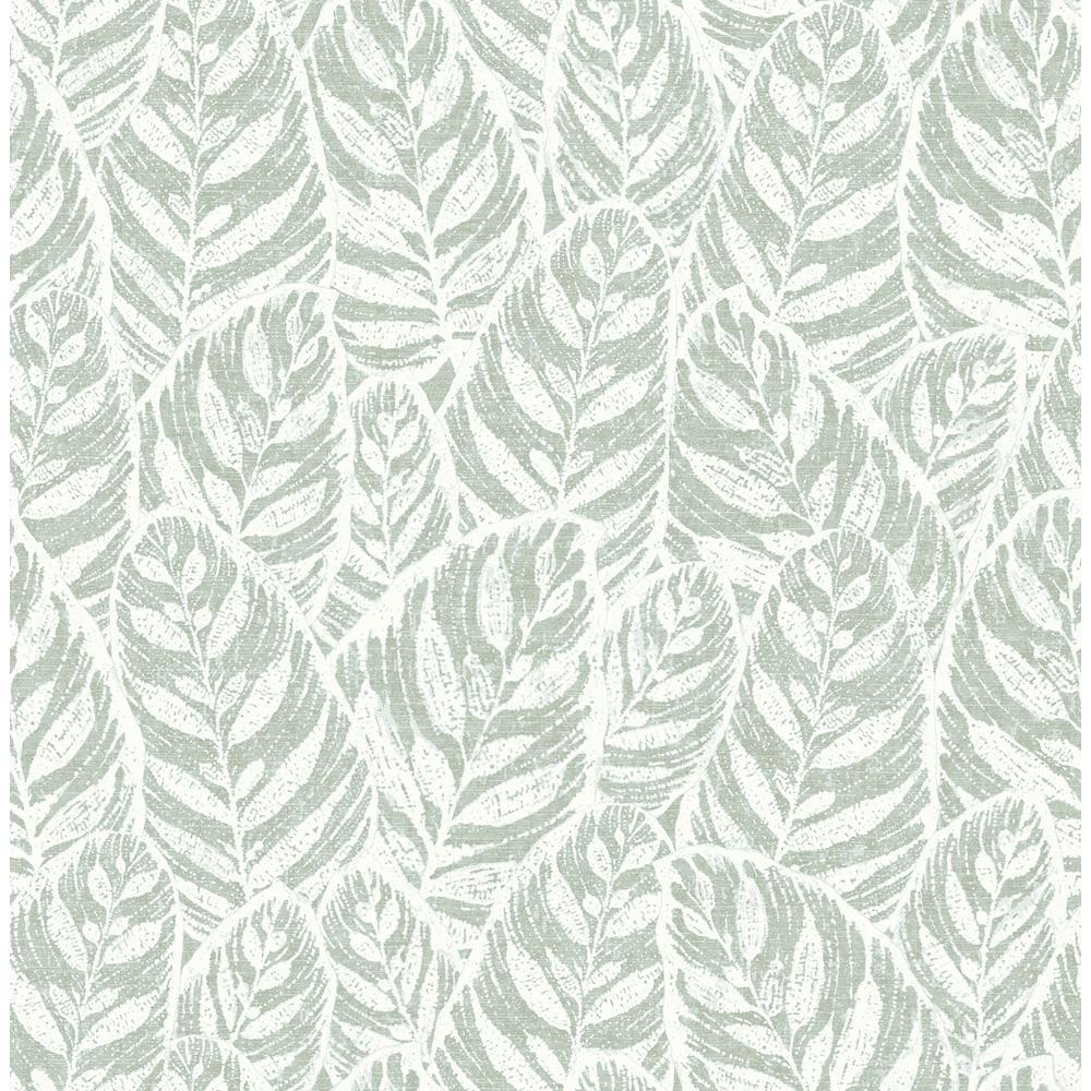 Del Mar Sage Leaf Sage Paper Strippable Roll (Covers 56.4 sq. ft.)