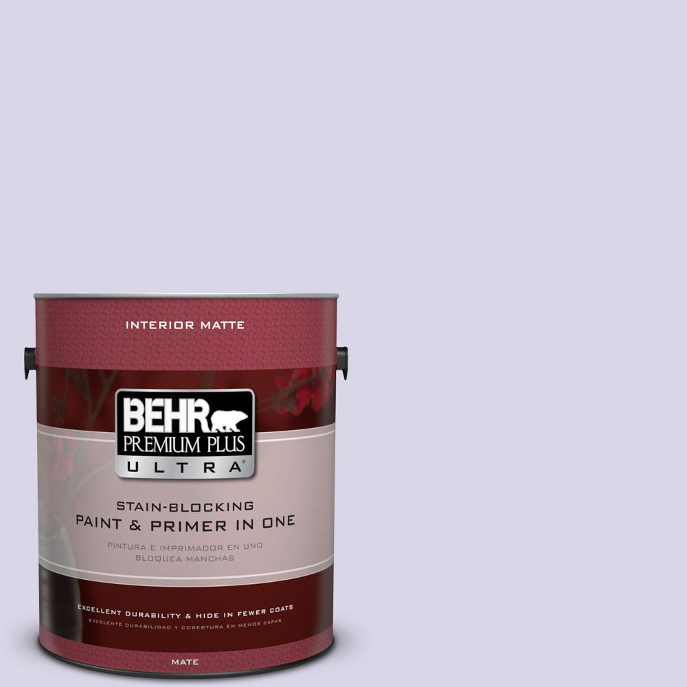 1 gal. #630A-2 February Frost Matte Interior Paint and Primer in