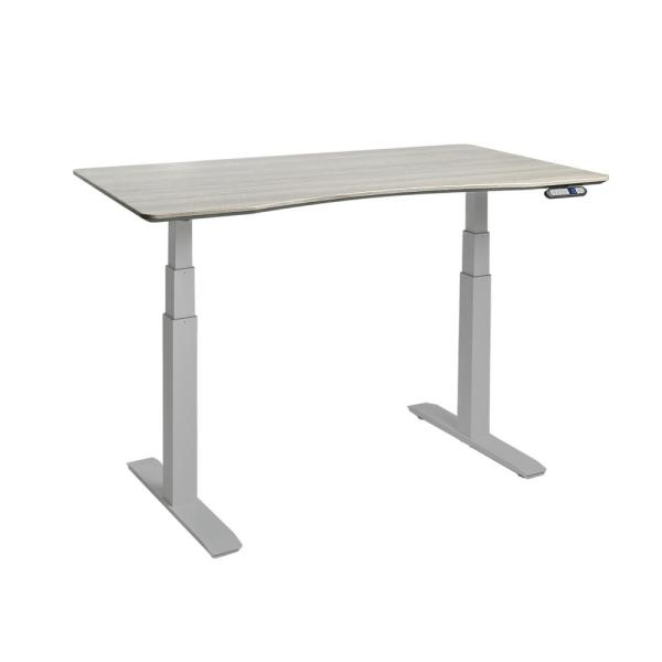 Seville Classics AIRLIFT Gray/Ash S3 Electric Standing Desk Frame /w 54