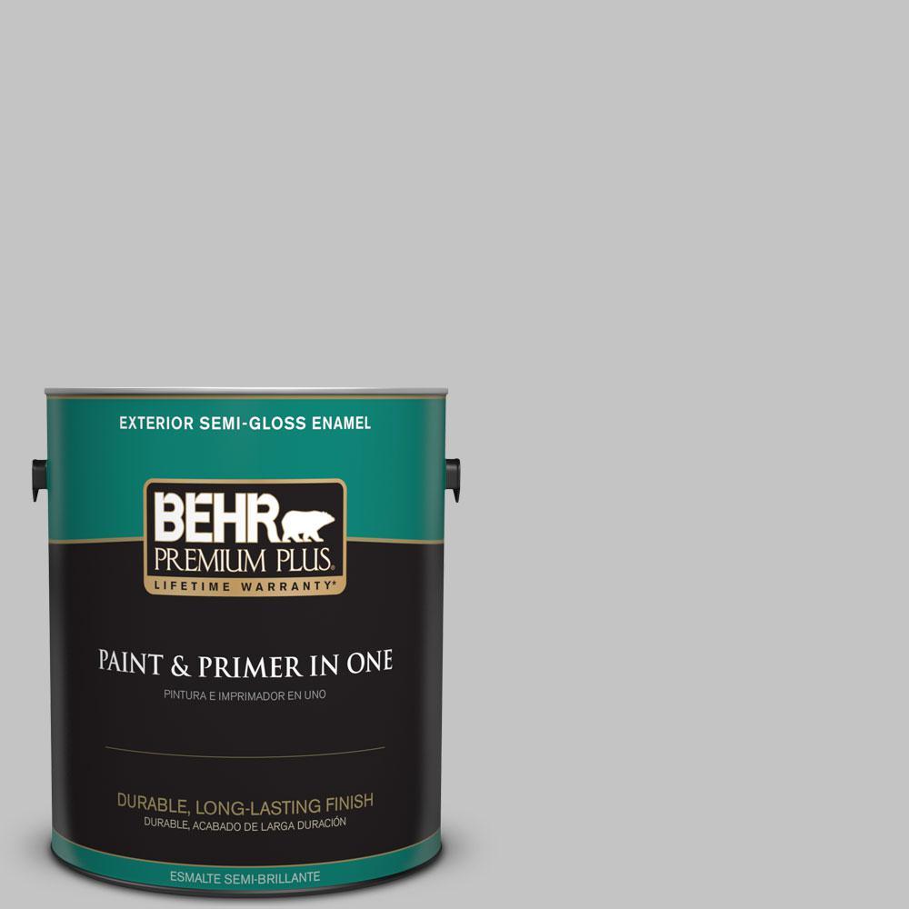 1-gal. #N520-2 Silver Bullet Semi-Gloss Enamel Exterior Paint