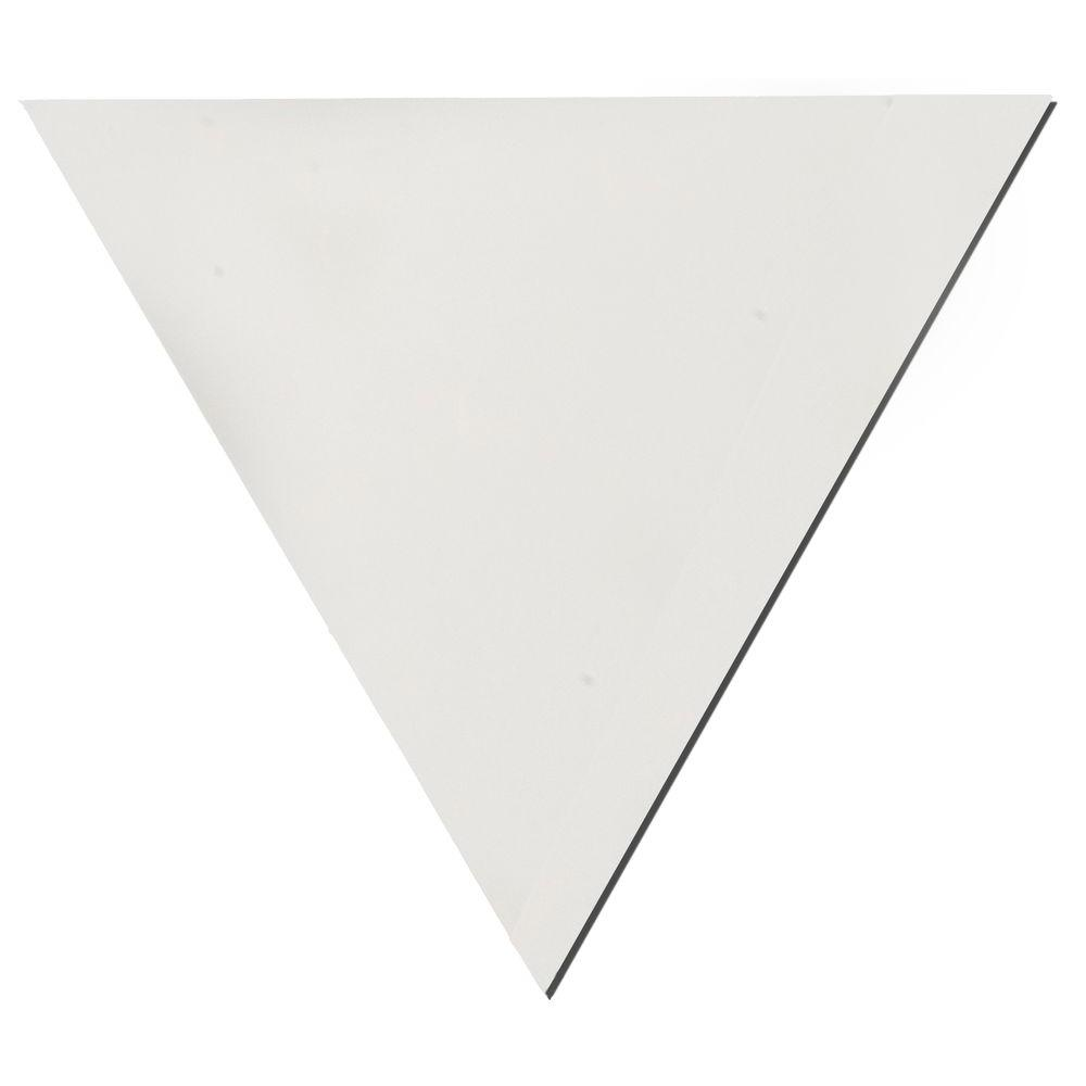 Owens Corning Paintable White Fabric Triangle 24 in. x 24 in. x 24 in. Sound Absorbing Acoustic Insulation Wall Panels (2-Pack)