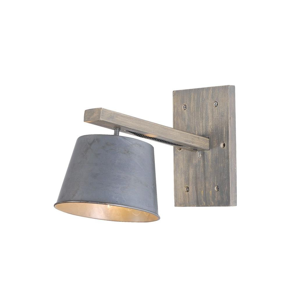 Elegant Lighting Industrial 1 Light Antique Wall Sconce