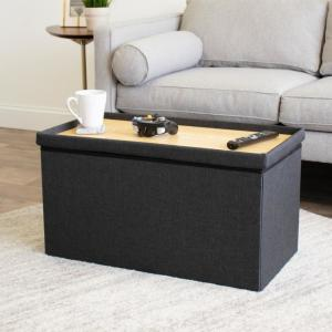 Awe Inspiring Humble Crew Brown Tray Ottoman Coffee Table With Storage Evergreenethics Interior Chair Design Evergreenethicsorg