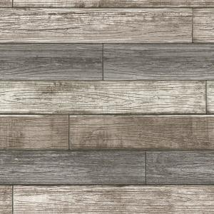 Reclaimed Wood Plank Natural Textured Vinyl Strippable Wallpaper (Covers 30.75 sq. ft.)
