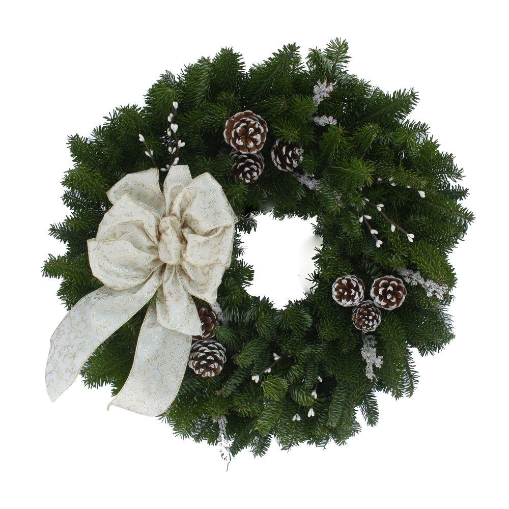 24 in. Balsam Fir Winter Elegance Fresh Wreath : Multiple Ship