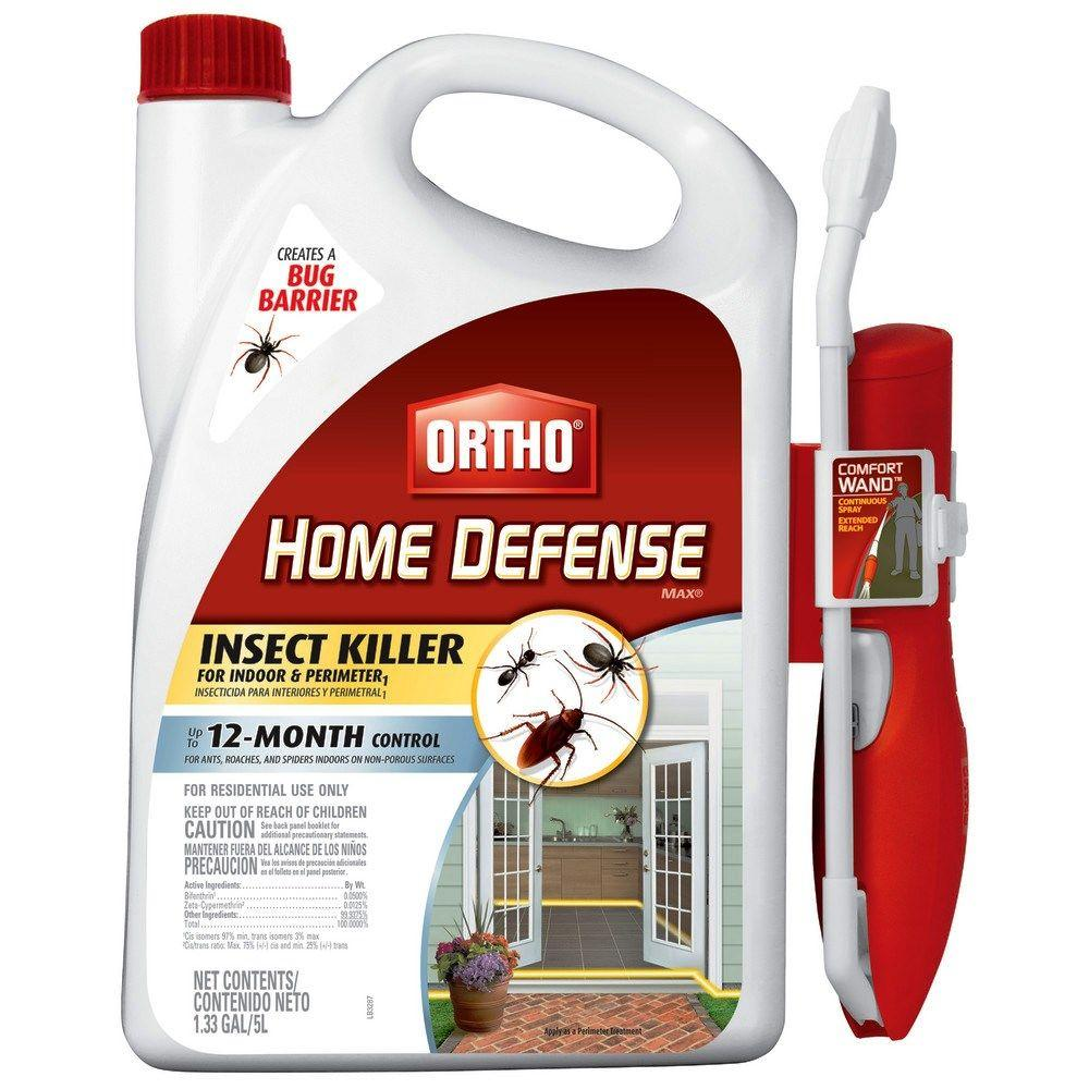 Ortho Home Defense Max Perimeter and Indoor Insect Killer with Wand (Case of 4)