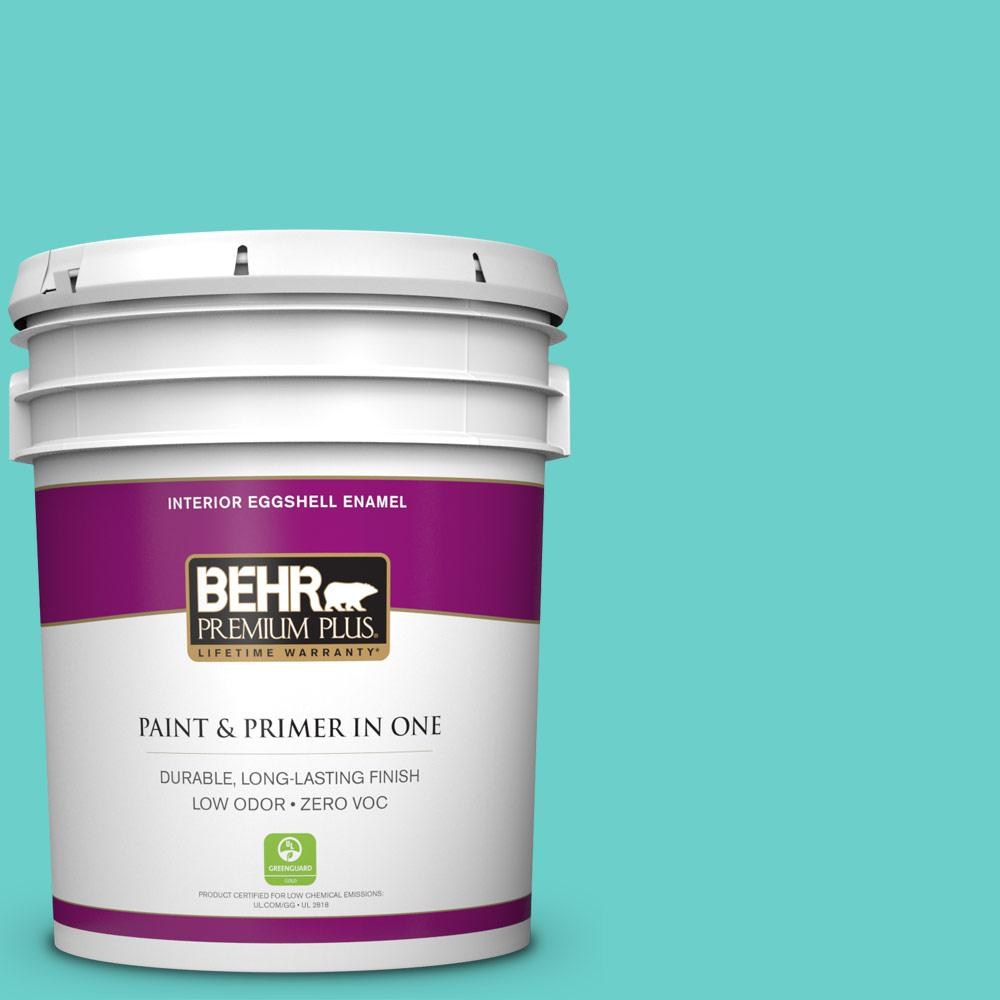 BEHR Premium Plus 5-gal. #P450-4 Hidden Sea Glass Eggshell Enamel Interior Paint