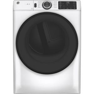 7.8 cu. ft. Smart 240-Volt White Stackable Electric Vented Dryer with Sanitize Cycle, ENERGY STAR