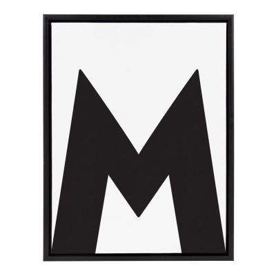 "Sylvie ""Letter M"" Framed Canvas Wall Art"