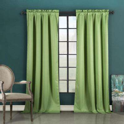 Liam 37 in. W x 84 in. L Polyester Window Panel in Sage