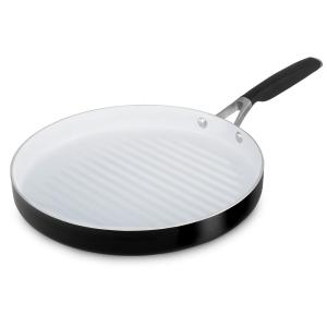 Click here to buy Calphalon Select 12 inch Ceramic Nonstick Round Grill Pan by Calphalon.