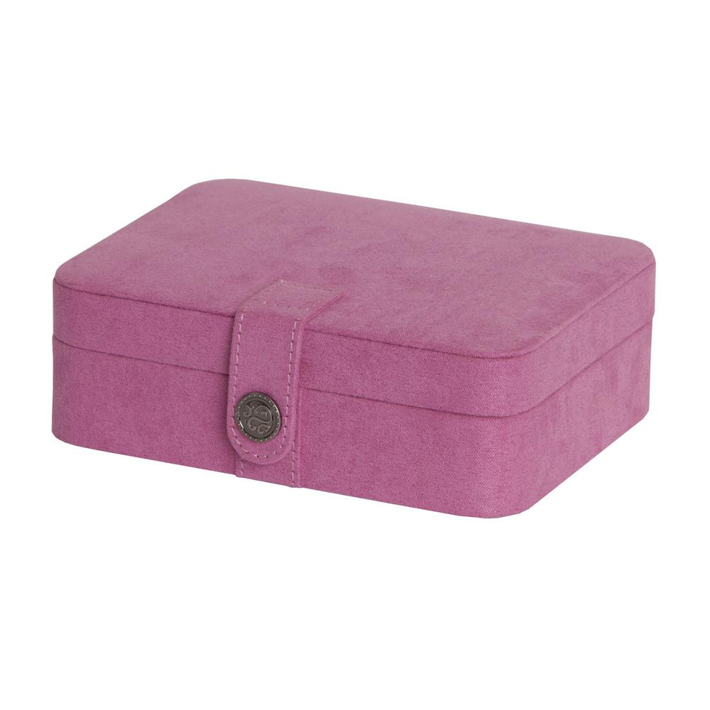 Giana Pink Plush Fabric Jewelry Box