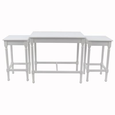 Miranda Pure White Nesting Tables (Set of 3)