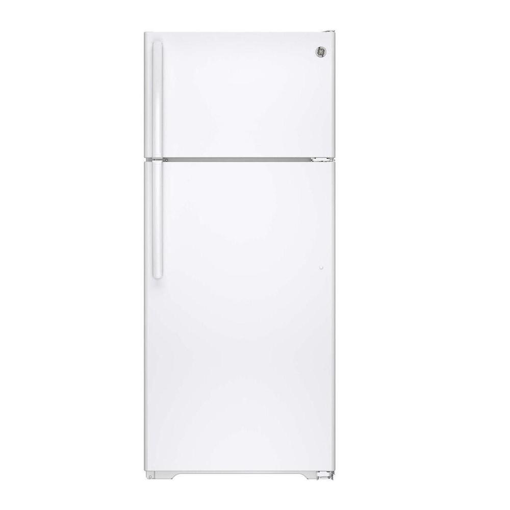 GE 17.5 cu. ft. Top Freezer Refrigerator in White, ENERGY STAR