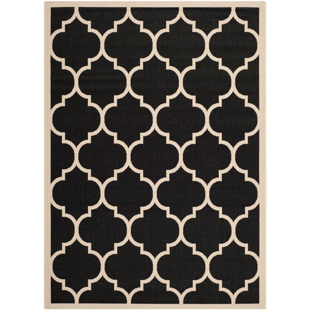 Safavieh Courtyard Black Beige 7 Ft X 10 Ft Indoor